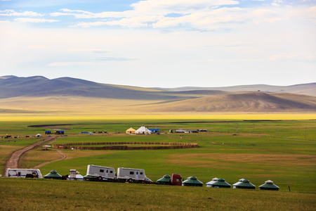 Inner Mongolia Hulunbeier Mongolian tribal caravan camp