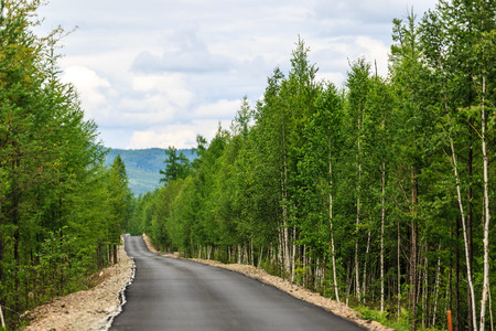 Moore Road, Inner Mongolia National Forest Park 写真素材 - 96287410