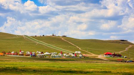 Inner Mongolia Hulun Buir 186 Ribbon River Mongolia tribes Imagens - 96432534