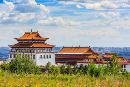 Inner Mongolia Hulunbeier Hailar Daler Jilin Temple Stockfoto