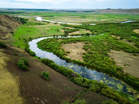 Inner Mongolia Hulunbeier Bayan Huoshu Mongolian tribes wetlands Stok Fotoğraf
