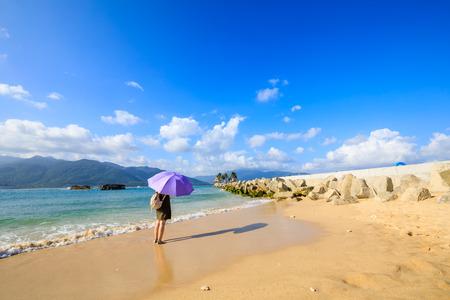 Hainan beach at China Stock Photo