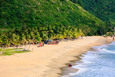 China's Hainan Nanwan Monkey Island Colorful Beach