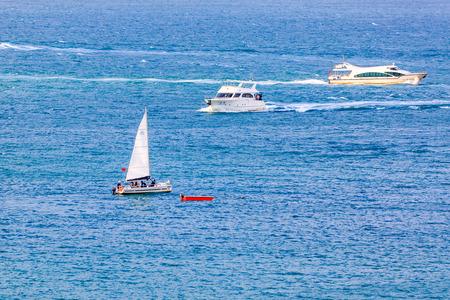 yacht at Hainan sea, China