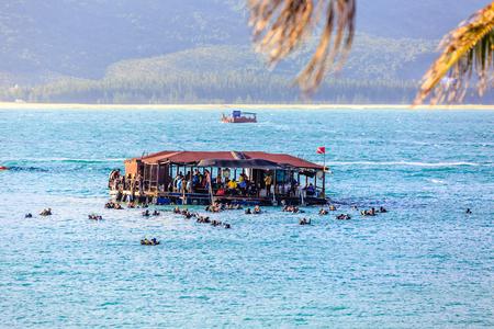 snorkering at Hainan island, China Editorial