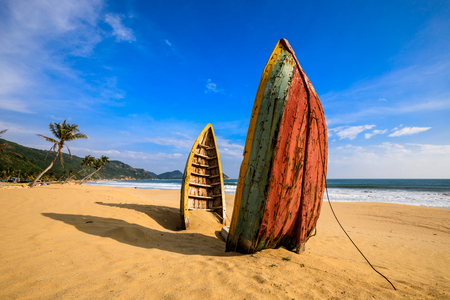 China's Hainan Nanwan Monkey Island Colorful Beach