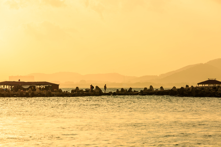 Hainan island under sunset