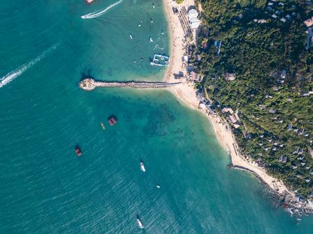 aerial view of Hainan island, China