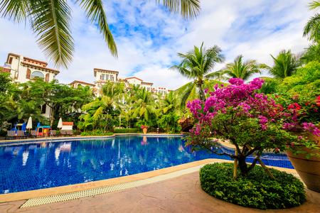swimming pool at Sanya Tide Baishi County Hotel