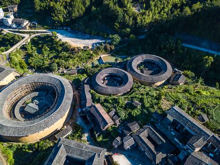 Aerial photography of Fujian Chuxi Hakka Tulou