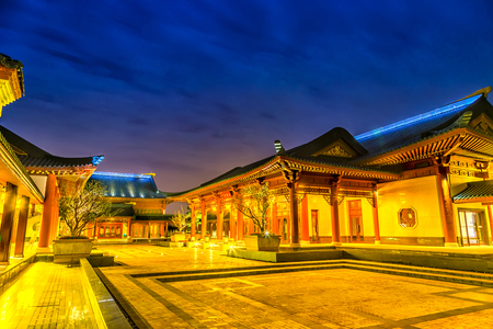 Chinese classical architecture at night