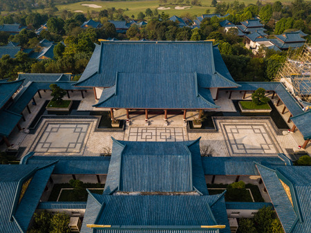aerial view of Chinese classical architecture