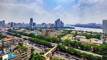 Shamian buildings in Guangzhou, Guangdong, China 報道画像