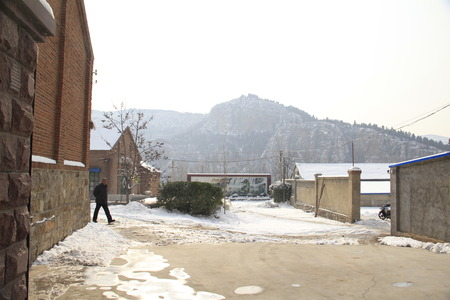 documentary: Snow in northern China's rural humanistic documentary photography Editorial