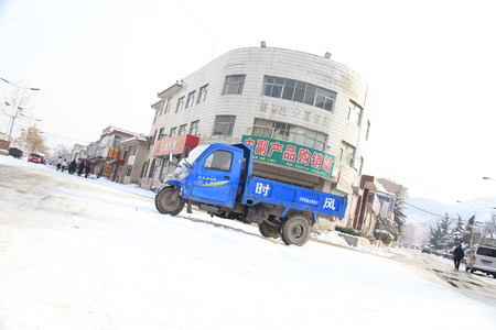 humanities: This is a shot in a Chinese town humanities snow pictures