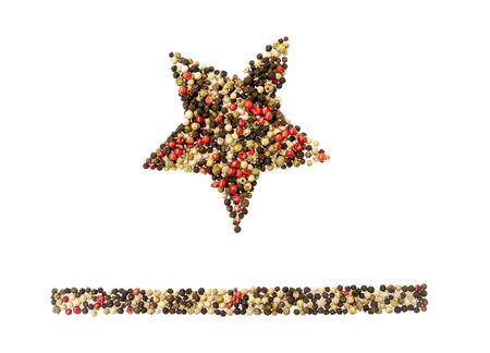 Color pepper star on a white background  photo