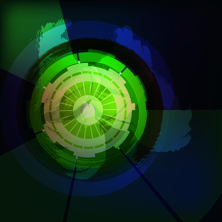 slovenly: abstract background with circles slovenly. Dark background. Illustration