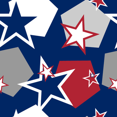estrellas cinco puntas: Seamless Pattern with stars. Background for US Independence Day.