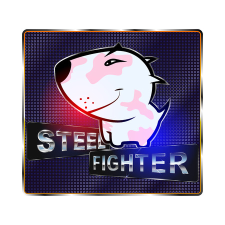 fighting dog bull terrier.  for the club dog fights Illustration