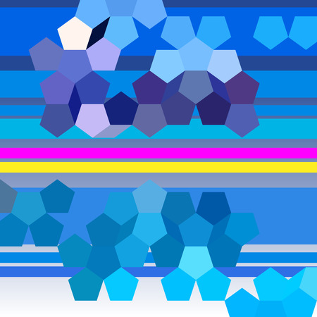 pentagon: abstract background with pentagon. Different colors Illustration
