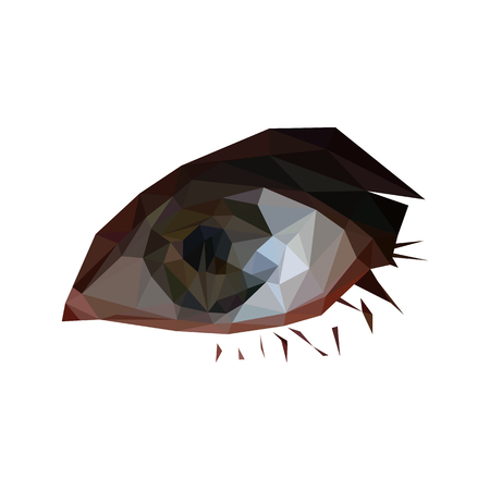Illustration of geometric polygonal eye Illustration