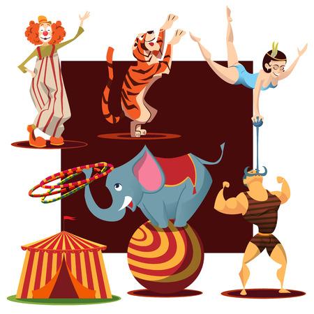 cute circus animals collection