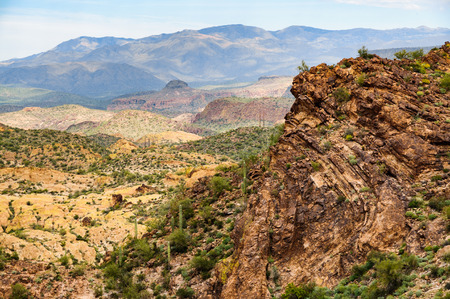 tonto national forest: Apache Trail Stock Photo