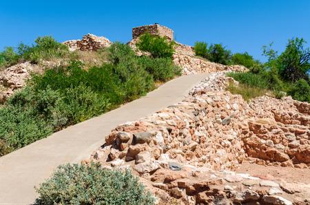 anasazi ruins: Tuzigoot National Monument Stock Photo