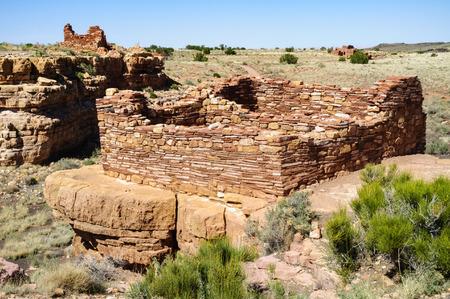 anasazi ruins: Wupatki National Monument Stock Photo
