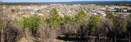 overlook: Overlook of Flagstaff, AZ Stock Photo
