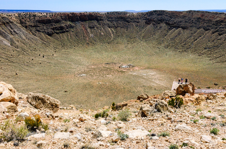 meteor: Meteor Crater Stock Photo