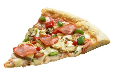 rebanada de pizza: rebanada de pizza  Foto de archivo