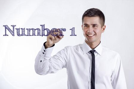 番号 1 - 透明表面 - 水平方向のイメージを書く笑顔きしゃ