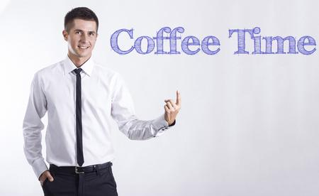 コーヒー タイム - 本文 - 水平方向の画像を指して笑顔きしゃ