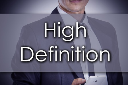 fullhd: High Definition - Young businessman with text - business concept - horizontal image