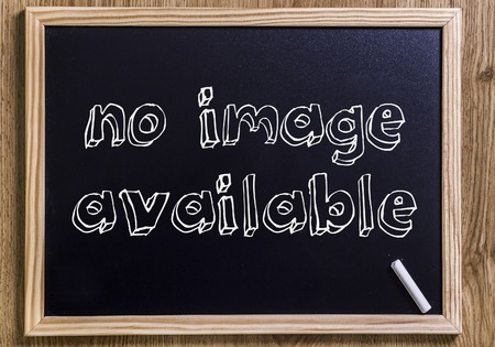 no image available - New chalkboard with outlined text - on wood Фото со стока