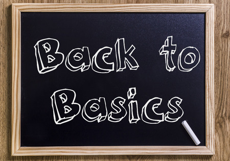 failed plan: Back to Basics - New chalkboard with outlined text - on wood