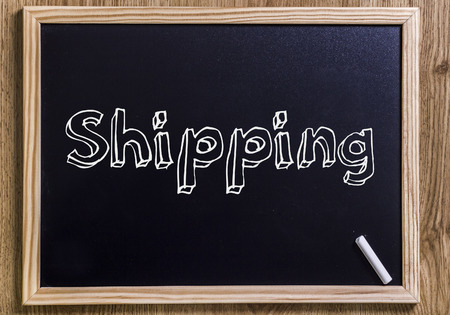 Shipping - New chalkboard with 3D outlined text - on wood