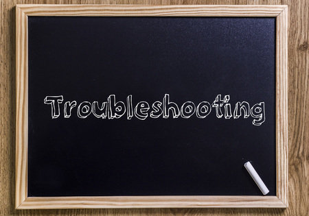 Troubleshooting - New chalkboard with 3D outlined text - on wood
