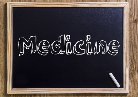 Medicine - New chalkboard with outlined text - on wood