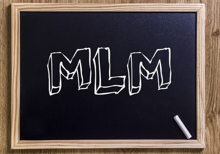 salespeople: MLM - New chalkboard with outlined text - on wood