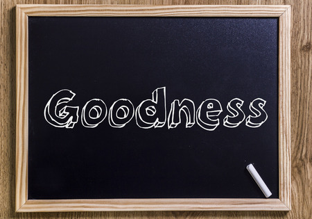 goodness: Goodness - New chalkboard with 3D outlined text - on wood
