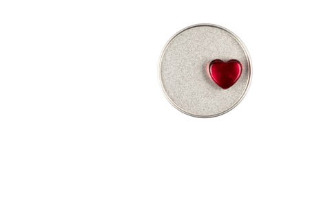 Abstract maroon heart as a symbol of Valentine day on white background