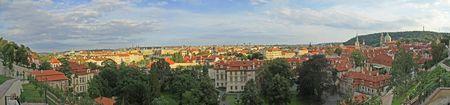 Prague panorama view photo