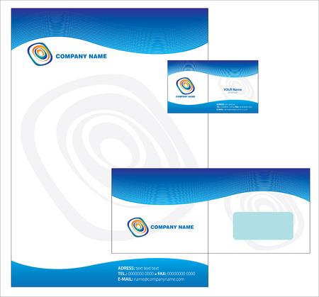 papier en t�te: Letterhead Template design Illustration