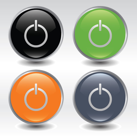 high end: Set og power buttons Illustration