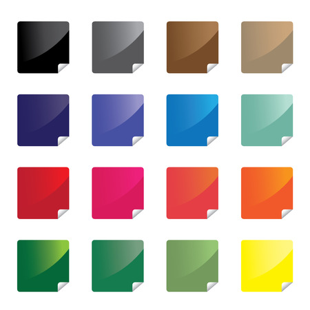 Colorful stickers  vector Vector