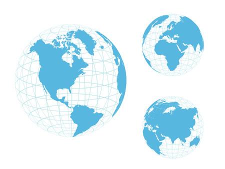 mainland: Globe of the World, blue