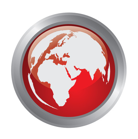 geodesy: Globe of the World button # 2 Illustration