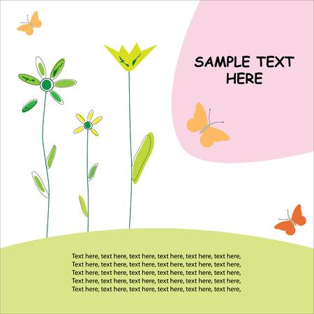 Greeting card / spring design Stock Vector - 4841875